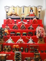 Hina dolls for Japanese Girls Festival (Hinamiatsuri)
