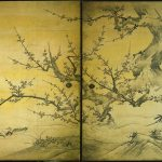 Plum Blossoms and Birds, by Kanō Eitoku