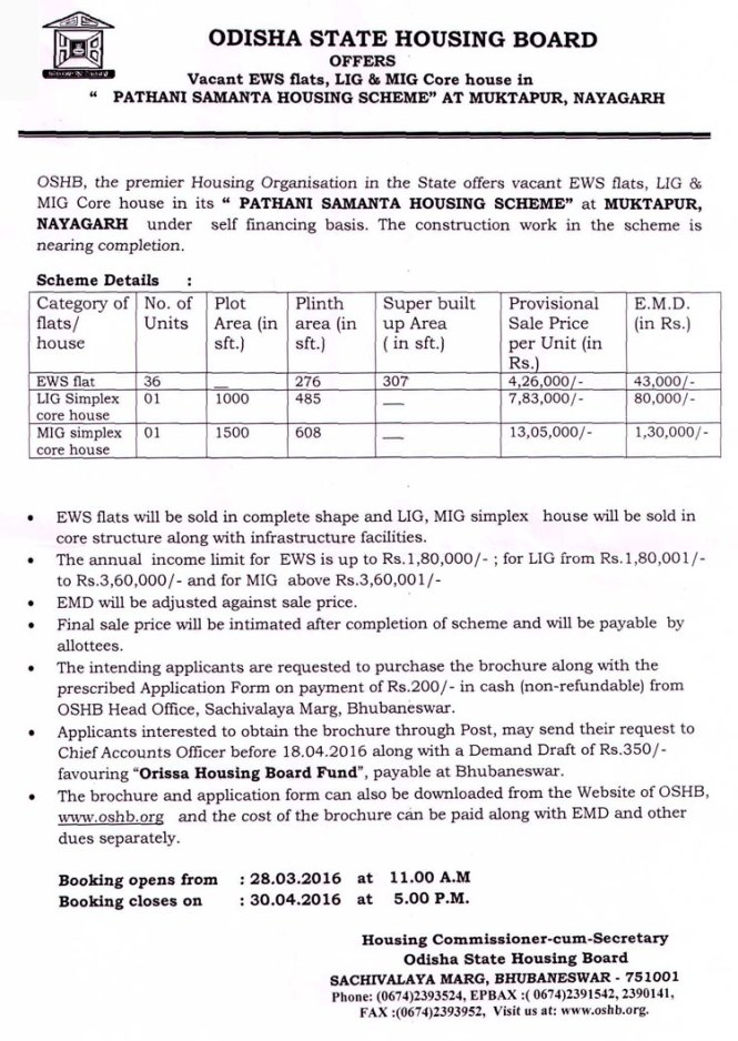 OSHB Pathani Samanta Housing Scheme