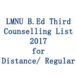 LMNU-B.Ed-Third-Counselling-List-2017