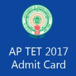 APTET 2017 Hall Ticket