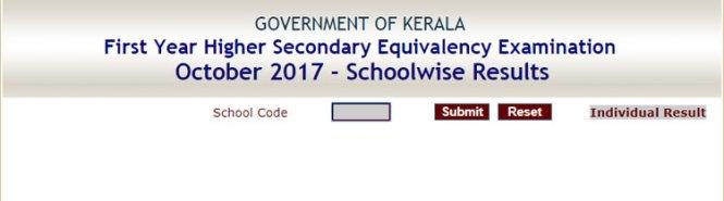 DHSE Kerala Results 2018