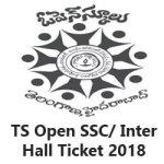 TS Open School Inter/ SSC Hall Ticket 2018