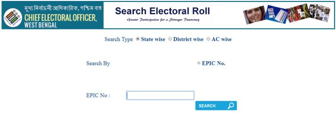 WB Voter List Search Name