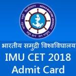 IMU CET Admit Card 2018