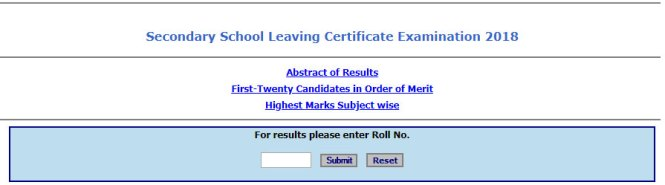 MBOSE 10th Result 2018