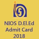 NIOS Deled Admit Card 2018