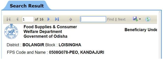 Odisha Ration Card List Online