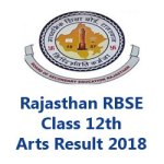 Rajasthan Class 12th Arts Result 2018