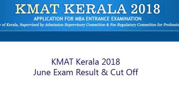 KMAT Kerala 2018 Result
