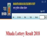 MHADA Lottery Draw Result 2018