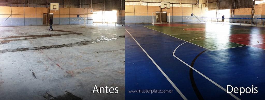 Antes e Depois - Pintura de Quadra 12000215606