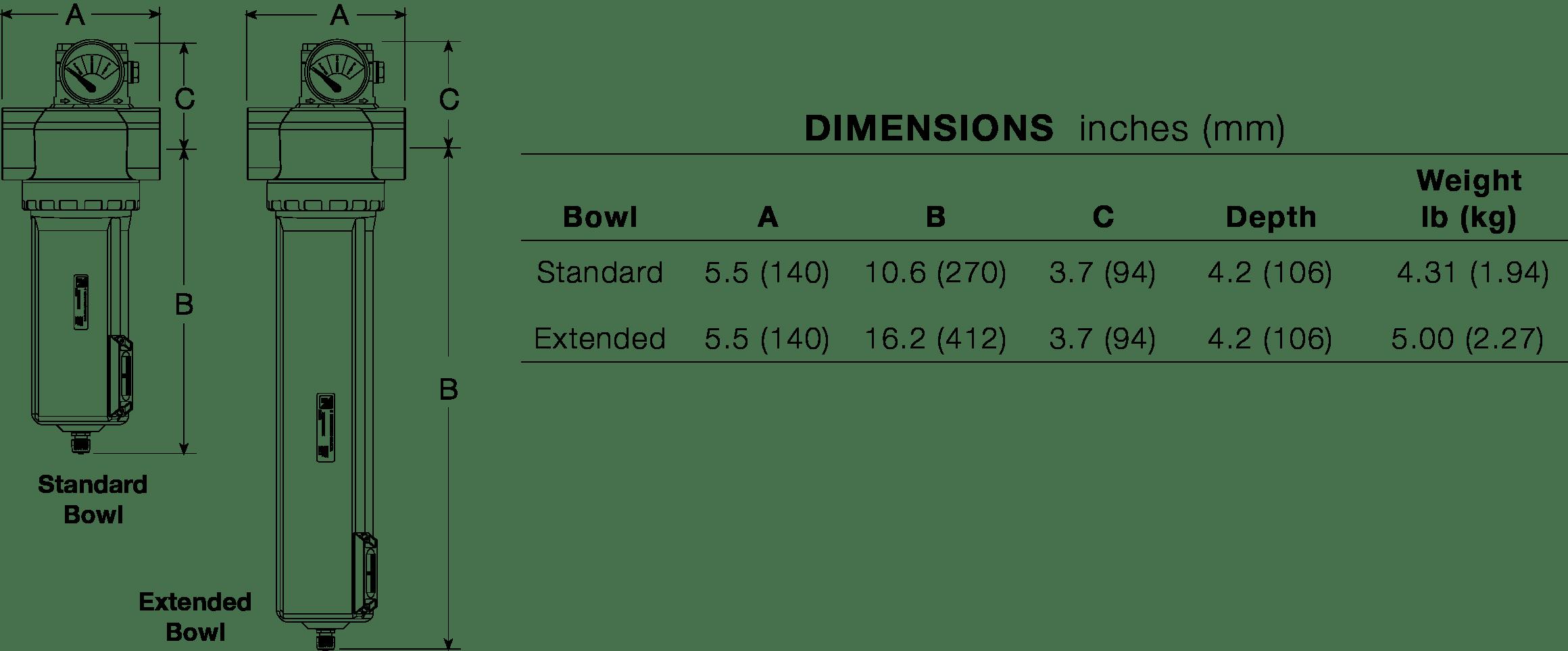BFCD201 High Flow Vanguard Coalescent 1-1/4 & 1-1/2