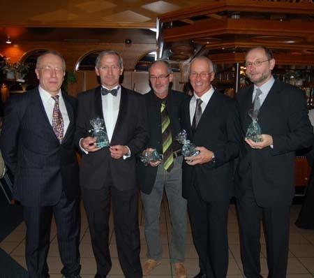 Sprintende Tänzer 2007 in Zeven: Joachim-Hickisch, Hans-Georg Müller, Helmut Meier, Jürgen Umann und Friedrich Müller