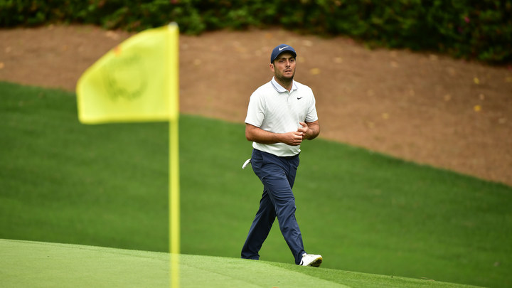Francesco Molinari of Italy walks on No. 10 green during the final round of the 2019 Masters.