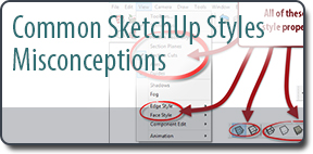 Common Sketchup Style Misconceptions