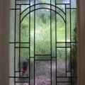 Masterson fine arts clear textured mission style leaded glass window