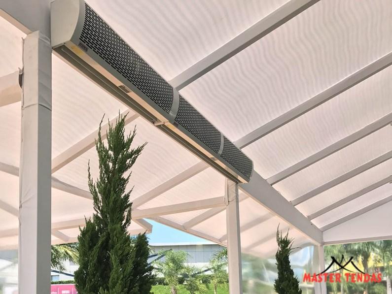 Locação de equipamentos para climatização e cortina de ar para eventos