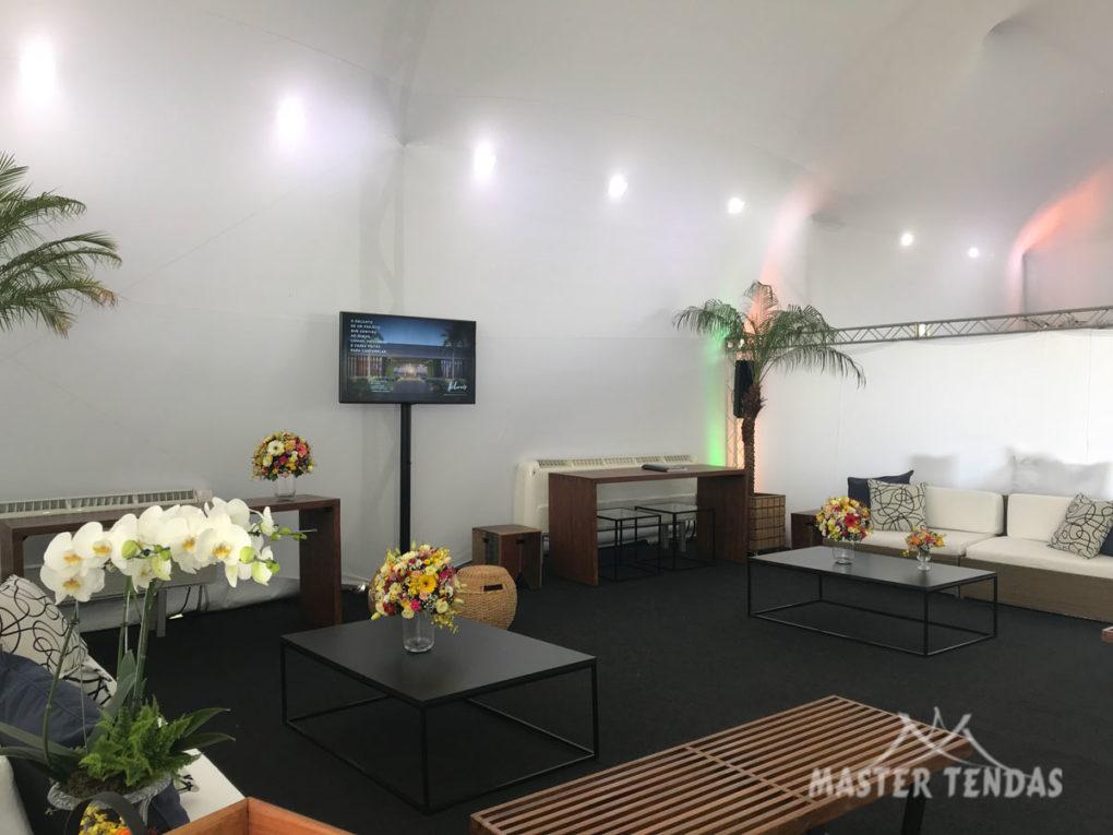Tendas para eventos com iluminação