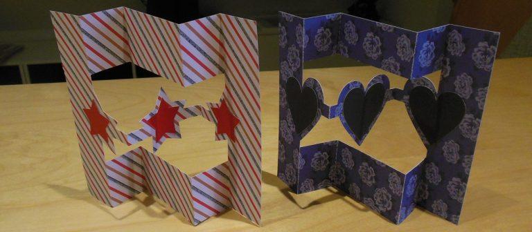 Zwevende Z vouw kaart met figuurtjes uitleg – Plus gratis FCM patronen – Met dank aan applelover53