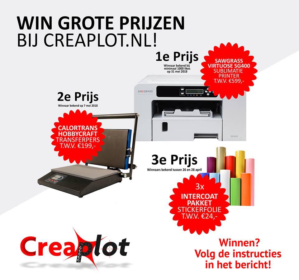 Tip – Mega win actie bij Creaplot – Prijzenpot ter waarde van bijna €900,-!!!