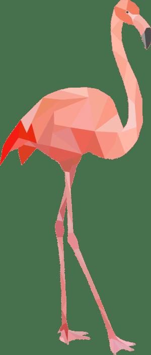 Geometrisch Flamingo