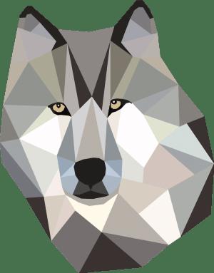 Geometrisch Wolf