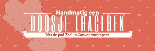 Handmatig een doosje traceren met de Pad tool in Canvas Workspace