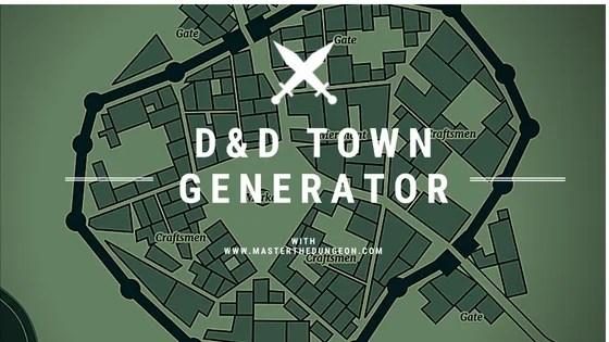 d d town generator