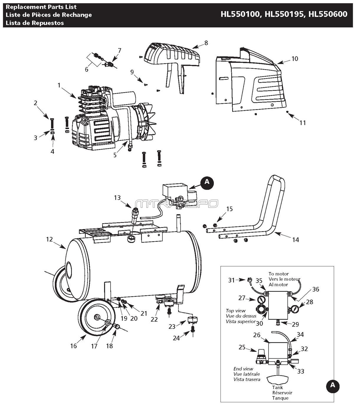 Campbell Hausfeld Air Compressor Parts