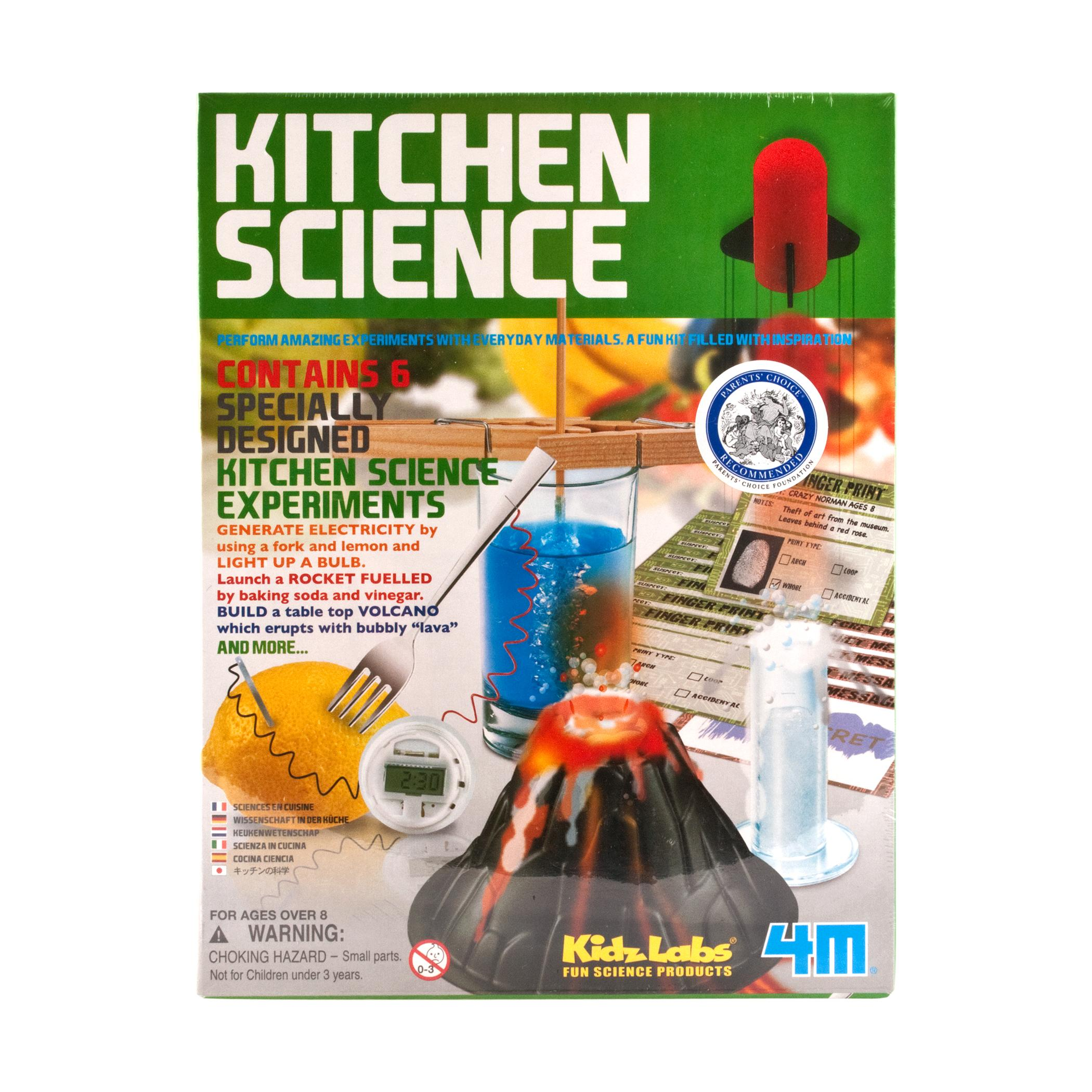 kitchen science molding for cabinets toysmith 6 experiments