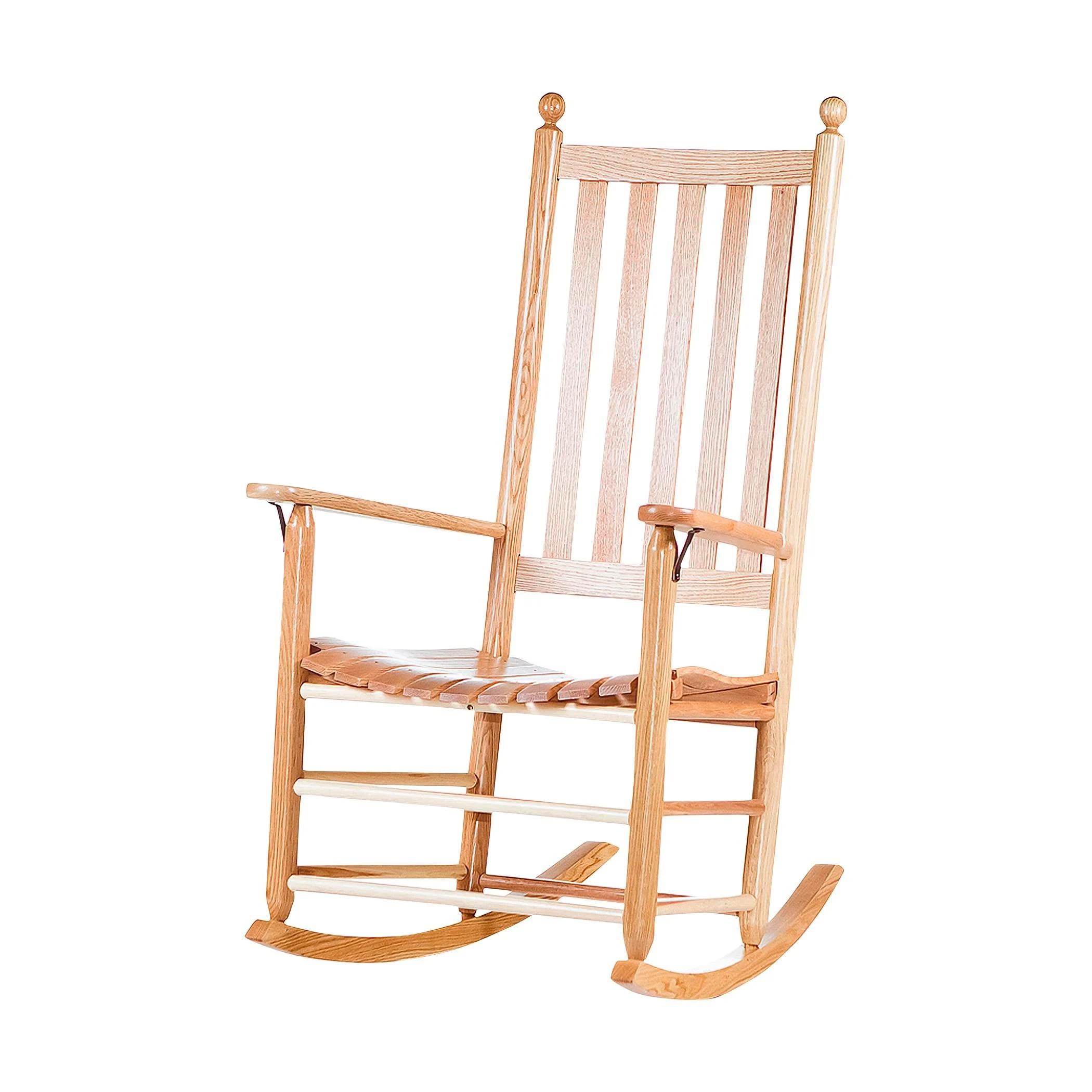troutman rocking chairs hawaiian sun chair jumbo slat rocker clear natural