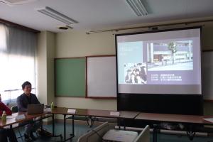 豊中市にある刀根山支援学校での講演風景