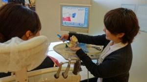 歯科衛生士による歯磨き指導 豊中市ますだ歯科医院