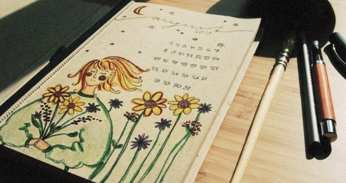 notizbuch jahresplaner e1593513489833 - DIY Adventskalender mit Graspapier