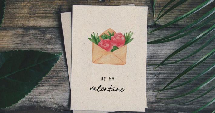 Valentintagskarte - White Monday statt Black Friday