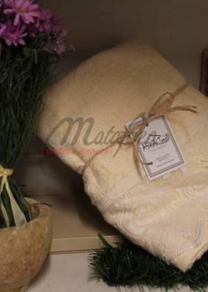 Coppia asciugamani Filet di Affreschi Tessili