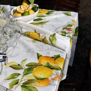 Tovaglia Limoncello di Tessitura Toscana Telerie