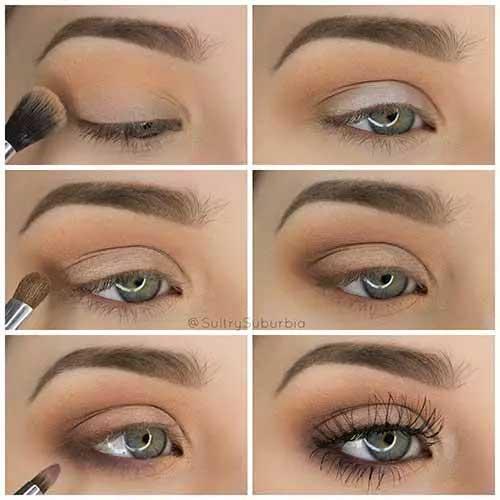Το απλό μακιγιάζ για πράσινα μάτια