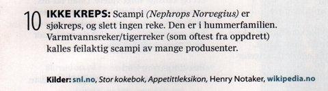 Scampi; Mat fra Norge2