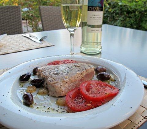 Tunfisk med oliven, tallerken