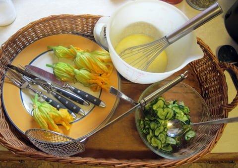 Squash, fritert med makrell