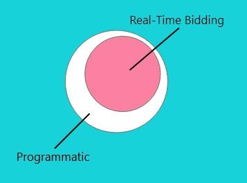 Programmatic vs real time bidding graphic