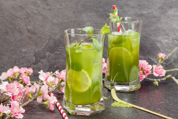 Image result for matcha iced tea with lemon