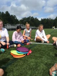 7th grade girls listen to stories. Photo credit: Ellie Fleming