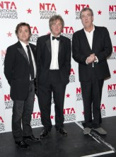 Top Gear Presenters Richard Hammond (Left), James May (Centre) And Jeremy Clarkson In The Press Room At The 2011 National Television Awards At The O2 Arenea, London. (Photo by Mark Cuthbert/UK Press via Getty Images)