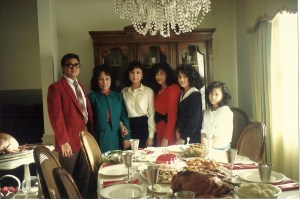 The Adrales Family on Christmas of 1989