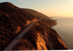 The Cabot Trail in Chéticamp. Image credit to the Cabot Trail.
