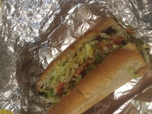 "A ""Regular"" (Italian) sub from Bernie's. Photo Credit: Parker Conquest"