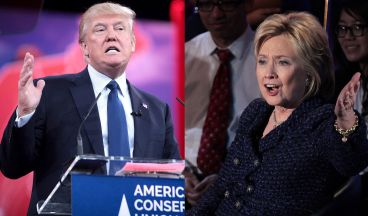 Major party candidates Donald Trump (R) and Hillary Clinton (D). Photo Credit: https://commons.wikimedia.org/wiki/File:Donald_Trump_and_Hillary_Clinton_during_United_States_presidential_election_2016.jpg